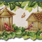 Birdhouses SF30038DC Wallpaper Border
