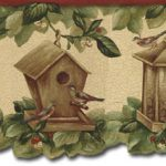 Birdhouses SF30040DC Wallpaper Border