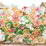 Rabbits Butterfly HK50002DC Wallpaper Border