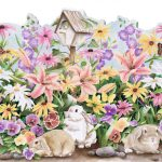 Rabbits Butterfly HK50004DC Wallpaper Border