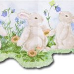 Rabbits Butterfly NK50026DC Wallpaper Border