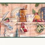 Kitchen CL6043B Wallpaper Border