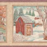 Country Toilet Bathroom STN6051 Wallpaper Border