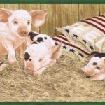 Pig Farm AFR7100 Wallpaper Border