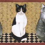 Cats AFR7103 Wallpaper Border