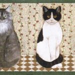Cats AFR7104 Wallpaper Border