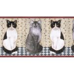 Cats B7105AFR Wallpaper Border