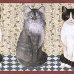 Cats AFR7105 Wallpaper Border