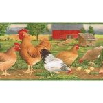 Roosters B7107AFR Wallpaper Border