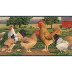 Roosters B7108AFR Wallpaper Border
