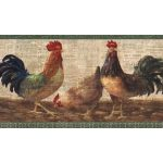 Layered Rooster VIN7324B Wallpaper Border