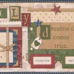 Inspirational Scrapbooking Button VIN7332B Wallpaper Border