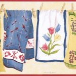 Country Laundry Dish VIN7336B Wallpaper Border