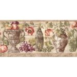 Fruits and Flowers KB75530 Wallpaper Border