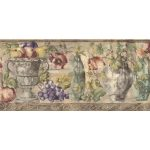 Fruits and Flowers KB75531 Wallpaper Border