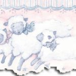 Kids Room Leaping Lambs SU75914DC Wallpaper Border