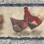 Roosters Hens SP76454 Wallpaper Border