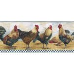 Roosters B8711TRY Wallpaper Border