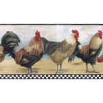 Roosters B8712TRY Wallpaper Border