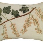 White Currants Decorative Pillow