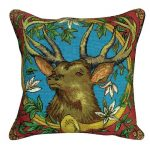 Elk with Horn 20 X 20 Needlepoint Pillow