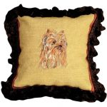 Yorkie Decorative Pillow