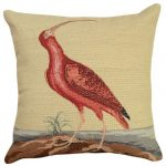 Red Curlew Decorative Pillow