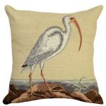White Curlew Decorative Pillow