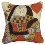 Queen of Hearts Decorative Pillow