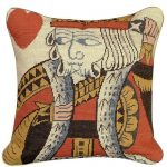 King of Hearts Decorative Pillow