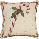 Candy Cane Decorative Pillow