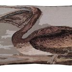 Brown Pelican Decorative Pillow