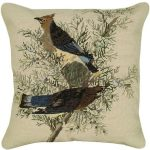 Cedar Waxwing Decorative Pillow
