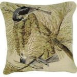 Tufted Titmouse Decorative Pillow
