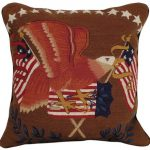 Eagle With Flag Decorative Pillow
