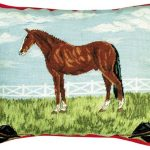 Horse & Tack 16×20 Needlepoint Pillow