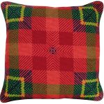 Van Campen – Red Plaid Decorative Pillow NCV-19