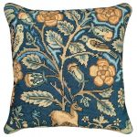 English Tapestry Stag Owl Pillow