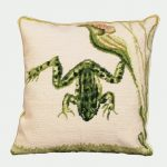 Water Frog Decorative Pillow