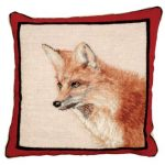 Large Fox Decorative Pillow