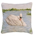 Swan in Lake Decorative Pillow