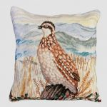 Quail on Fence Decorative Pillow