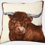 Red Steer 20×20 Needlepoint Pillow