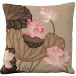 Fall Lotus 18×18 Needlepoint Pillow NCU-344A2