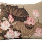 Fall Lotus 16×20 Needlepoint Pillow