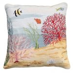Coral Reef Left Decorative Pillow