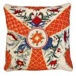 Imari Flowers Decorative Pillow