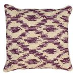 Ikat Prune Decorative Pillow