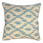 Ikat Peacock Decorative Pillow