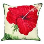 China Rose 18X18 Needlepoint Cushion Pillow